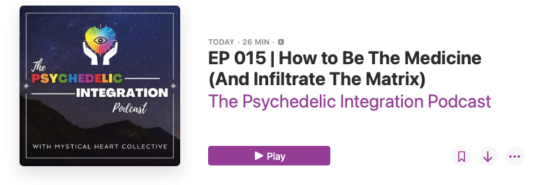 How to Be The Medicine and Infiltrate The Matrix