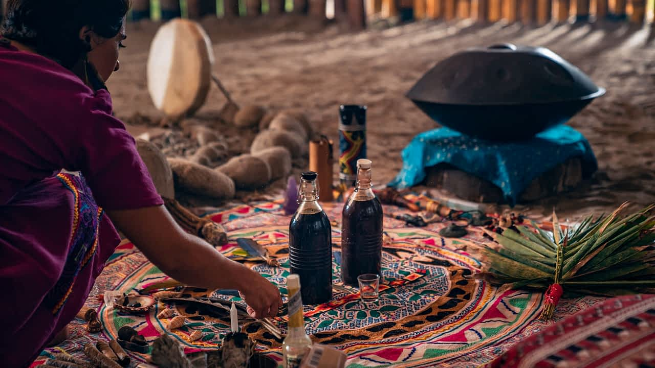 ayahuasca shaman medicine woman altar sacred earth medicine retreat
